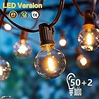 [50 LED Versión] 16.6 Metros Guirnaldas luminosas de Exterior,OxyLED G40 50+2 Bombillas Luces de la Secuencia del Jardín…