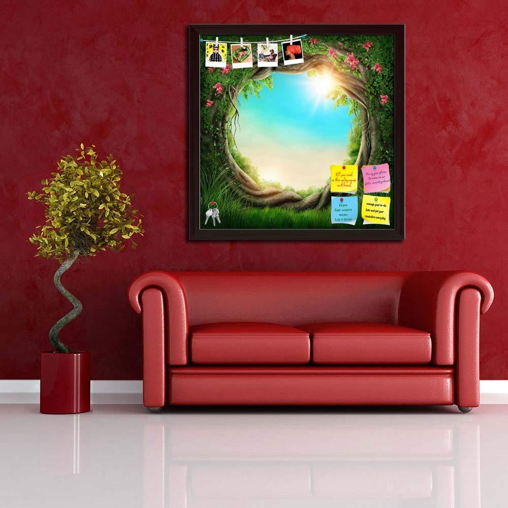 Amazon.com: Artzfolio – Pizarra con diseño de bosque oscuro ...