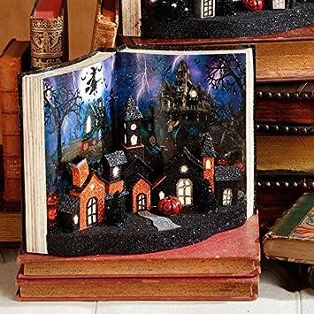 raz imports halloween decor lighted halloween house 3 d book display
