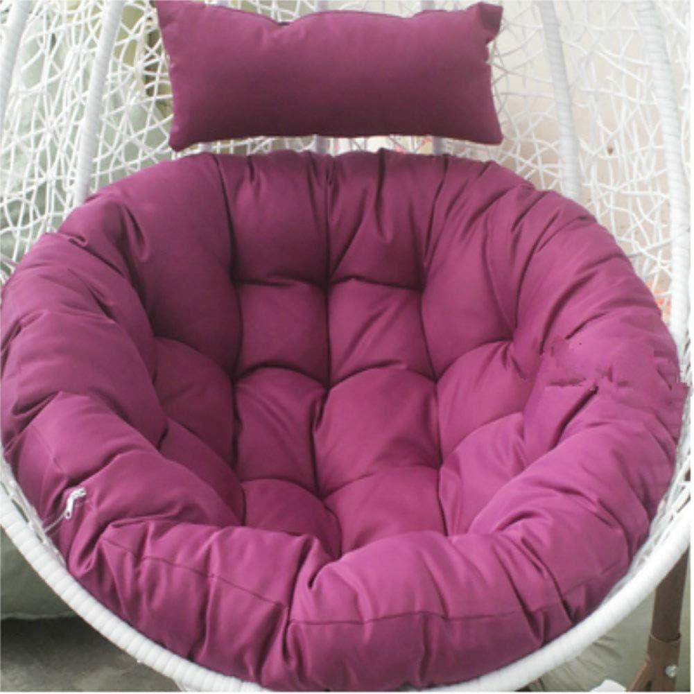 LYHY Cojín de Asiento abatible, cojín de Asiento Nido de Silla Gruesa Colgante, cojín de sillón Suave, Silla de Asiento Lavable antideslizante-105x105 cm (41x41 Pulgadas) Rojo