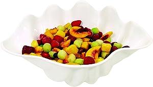 1-Quart Shell Salad Bowl, White