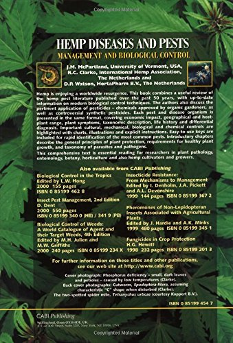 Hemp Diseases and Pests: Management and Biological Control (Cabi)