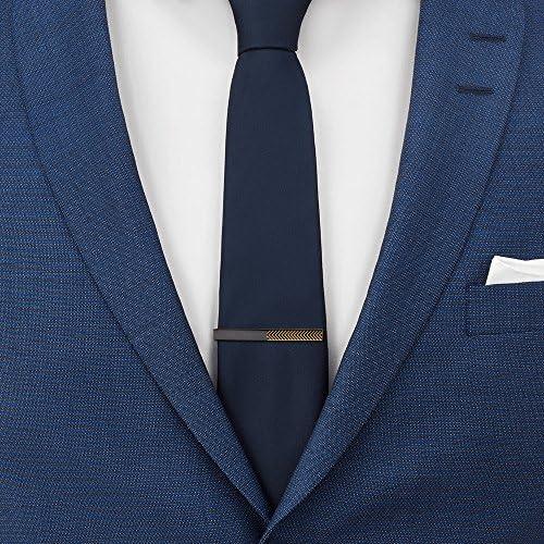 Mr Van Classic - Juego de pinzas para corbata con diseño de rayas ...