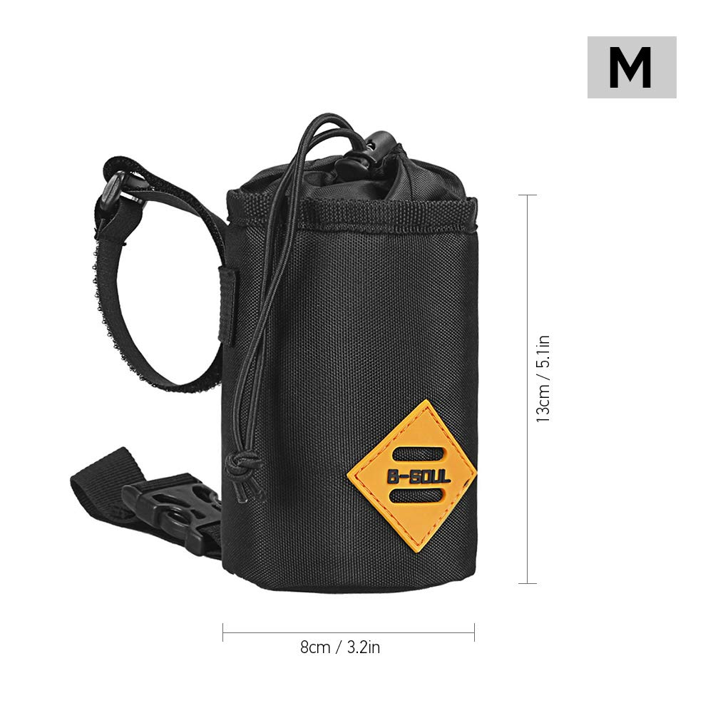 Walmeck Water-Resistant Bicycle Handlebar Water Bottle Holder Bag Storage Pouch for Cycling Camping Hiking Backpacking
