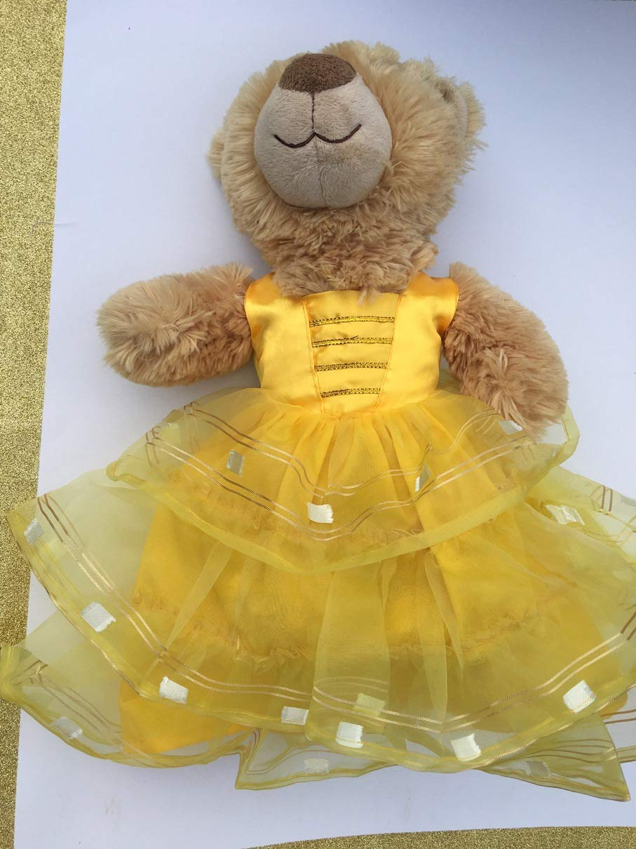 Fits Standard Build A Bear Plush Doll Clothes Princess Belle Inspired Dress Halloween Costume Handmade Clothes Only