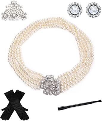 Utopiat Costume Jewelry and Accessory Set, Audrey Hepburn, Breakfast at Tiffany's (without gift box)