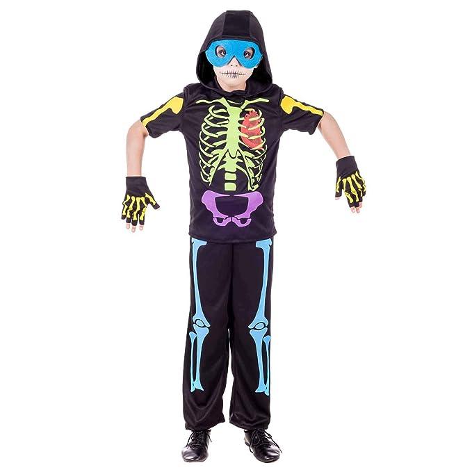 Amazon.com: Fun Shack Disfraz de esqueleto de neón para ...