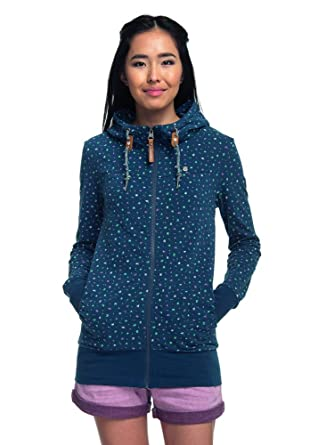 Ragwear Abbie Damen Sweatjacke Denim Blue Größe XS: Amazon