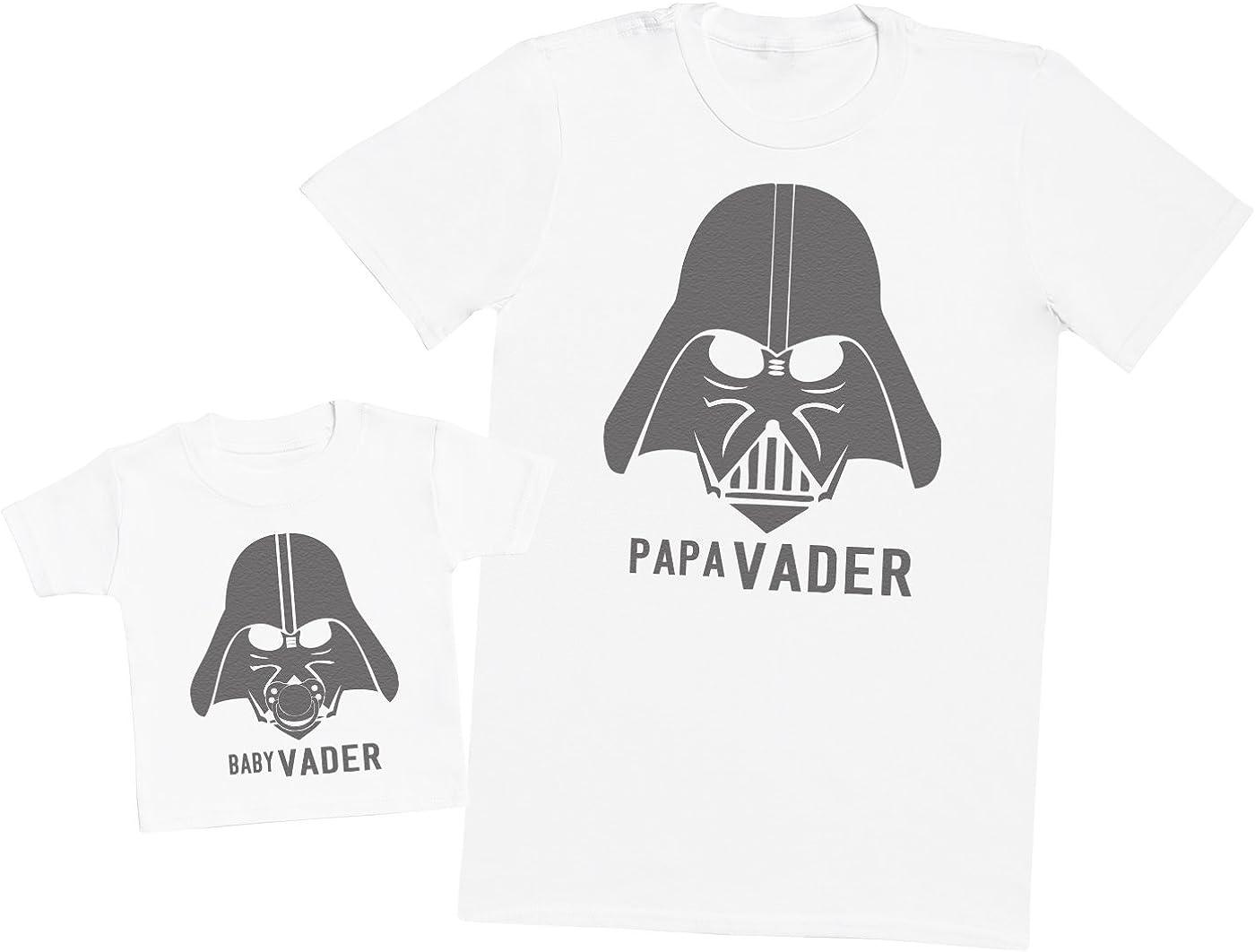 Zarlivia Clothing Baby Vader /& Papa Vader Ensemble P/ère B/éb/é Cadeau Hommes T-Shirt /& T-Shirt b/éb/é