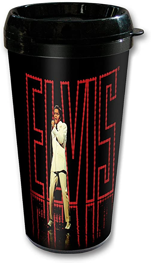 Midsouth Products Elvis Presley Steel Thermo Travel Mug with Blue Sweater