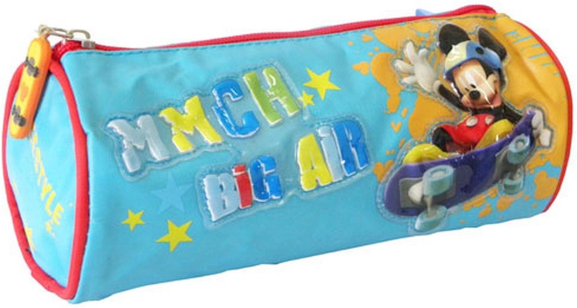 Estuche redondo, diseño de Mickey-Monopatín: Amazon.es: Ropa y accesorios