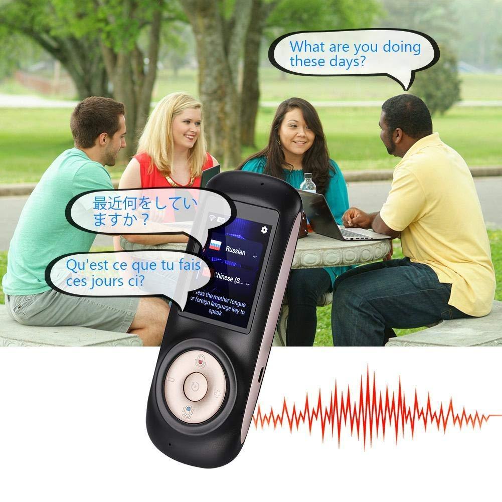 Traduttore automatico portatile in tempo reale traduttore wireless portatile supporto interattivo di traduzione vocale istantanea 52 lingue senza rumore,Black