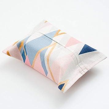 SHUCHANGLE Simple Geométrica Rosa Algodón Tejido Caja Salón Creativa Bolsa Toallas,F: Amazon.es: Hogar