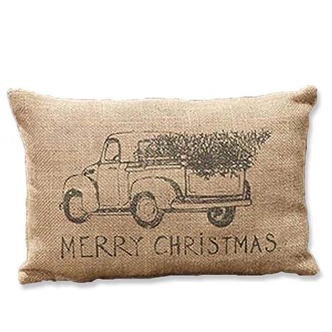 Amazon.com: Cojín de Navidad para camión de arpillera, árbol ...