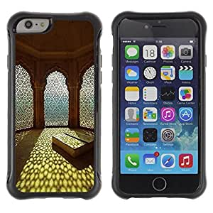 Fuerte Suave TPU GEL Caso Carcasa de Protección Funda para Apple Iphone 6 / Business Style Islam Sun Summer Architecture Religion