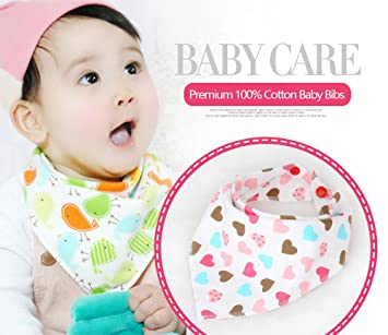 Pattern Infants Waterproof Cotton Saliva Towel Burp Cloths Baby Triangle Bibs