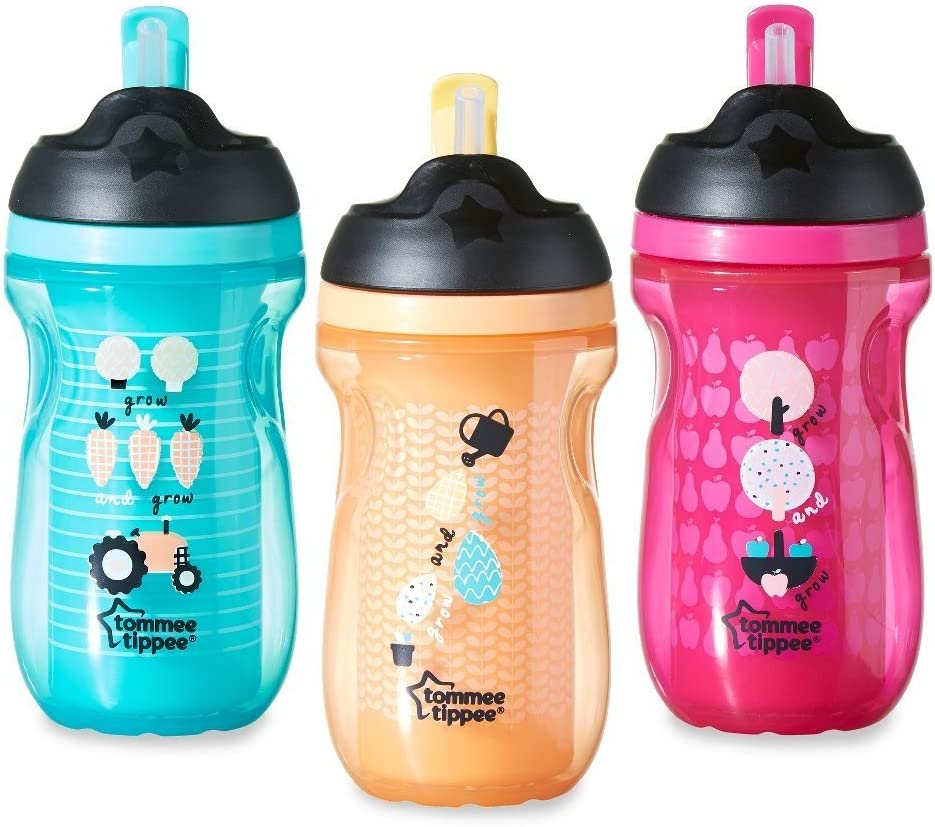 Orange Space Tommee Tippee Active Straw Cup 12m+