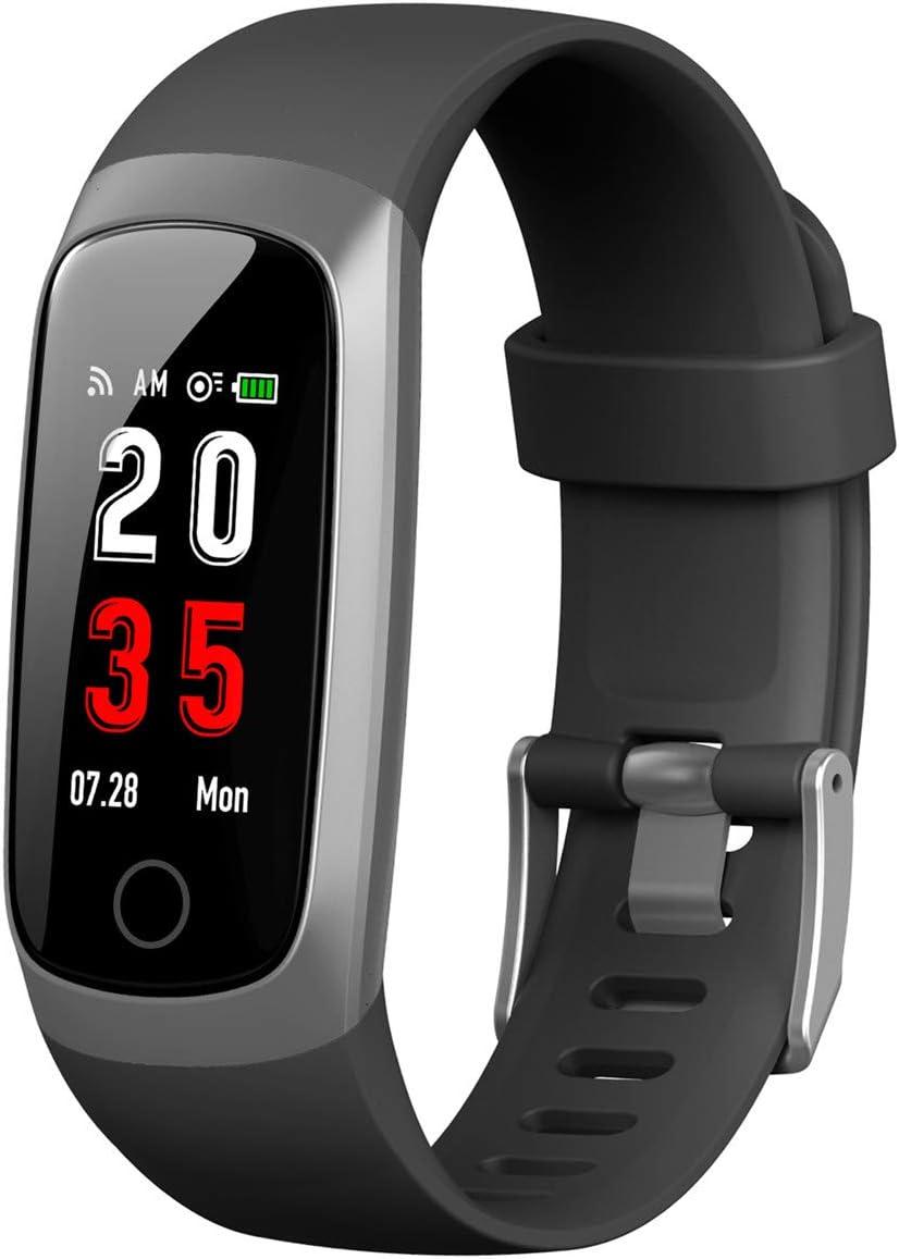 iPosible Pulsera Actividad, Reloj Inteligente Mujer Hombre con Pulsómetro Presión Arterial Pulsera Inteligente con Cronómetro Pulsera Podómetro Impermeable IP67 para Android iOS(24 Meses Garantía)