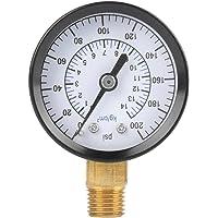 """Walfront 0-200 PSI 0-14kgf/cm² Medidor de Presión Analógica para Agua, Aire, Aceite, dial, Instrumento, NPT, 1/4"""""""