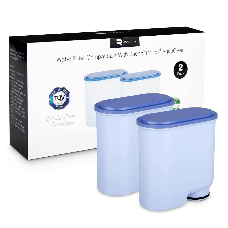 Filtre /à Eau Alcalin Z/éro Calcaire pour Philips et Saeco AquaClean Machine /à Caf/é Paquet de 2 Rhodesy Saeco et Philips Filtre Aquaclean CA6903