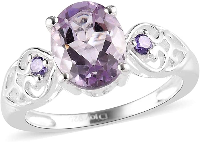 Lovely Gemstones  Amethyst ring jewelry accessories gift for women wrap ring Solid Silver Purple Amethyst Lovely Gemstones Ring