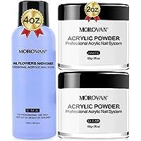 MOROVAN Acrylic Powder and Liquid Set Acrylic Nail Kit With High Capacity 4oz Acrylic Powder and 4oz Professional…