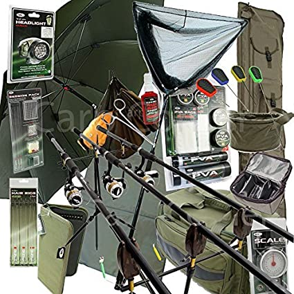 Amazon.com : Deluxe Complete Full Carp Fishing Set up With ...