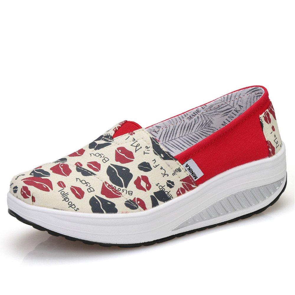 FangYOU1314 Chaussures (Couleur en 36 Toile 2/3 éponge à Semelles épaisses (Couleur : Lips, Taille : 36 2/3 EU) Lips be04ae0 - automatisms.space