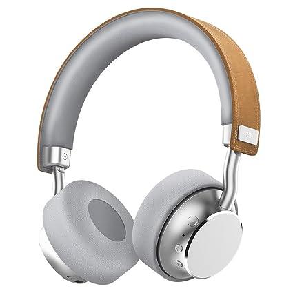 Omars Auriculares de Diadema Inalámbrico Auriculares de Piel Cascos para iPhone, iPod, iPad,