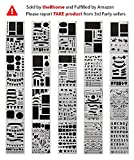 BHOME 20 Pack Journal Stencil Set Plastic Planner Stencils for Journaling/Scrapbooking/Notebook/Diary/Card/Art - Bullet Journal Stencil DIY Projects Drawing Template Stencil 4x7 Inch
