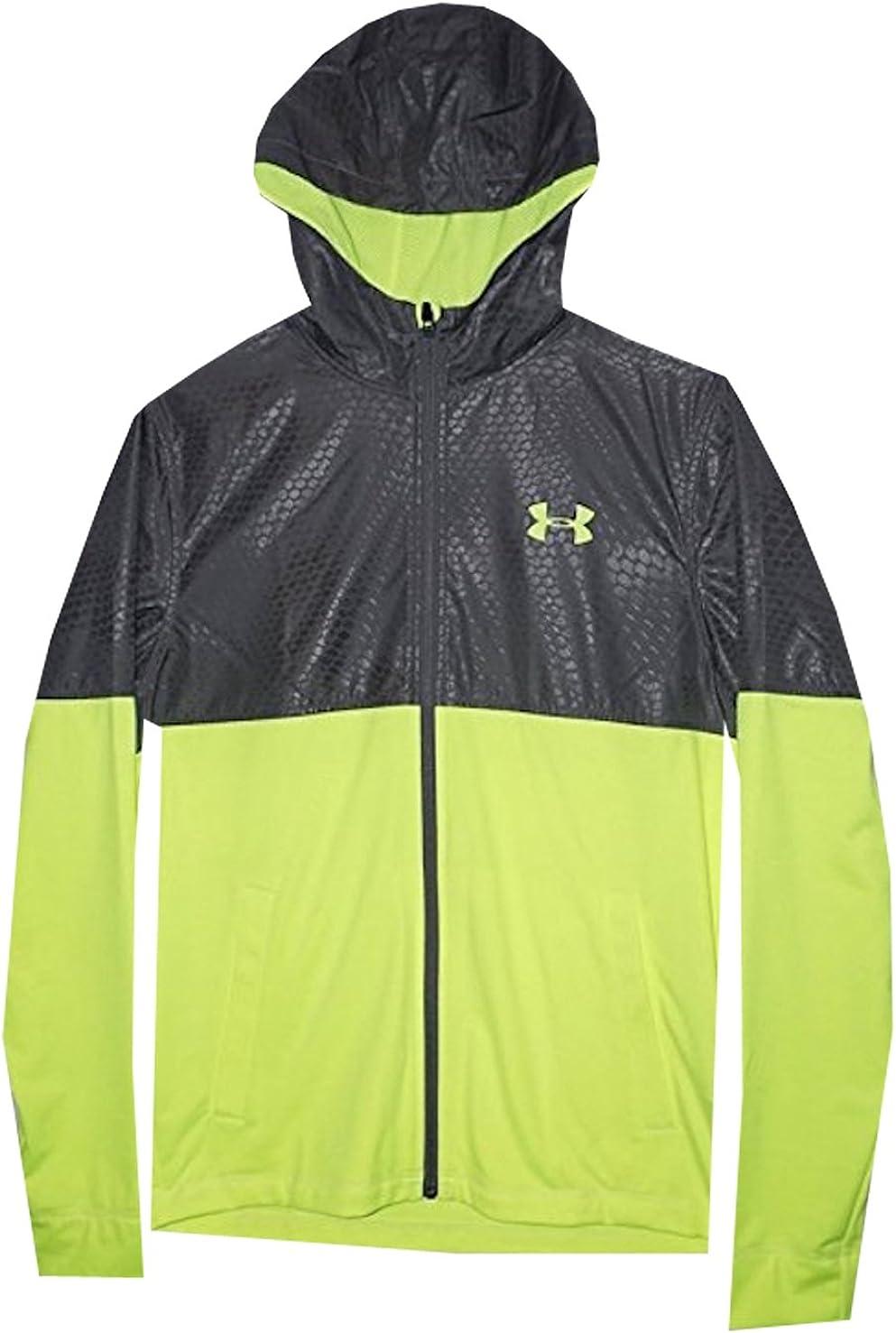 mostaza Vuelo cruzar  Amazon.com: Under Armour Men All Season Gear Lightweight Full Zip Jacket  (M, Graphite/high vis Yellow): Clothing