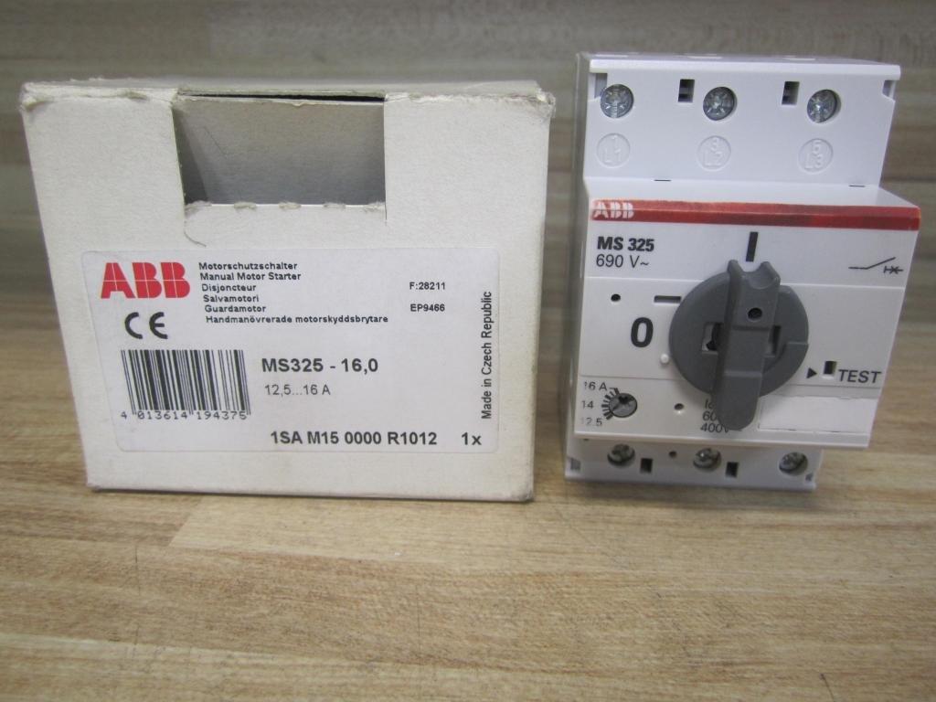 ABB MANUAL MOTOR STARTER 12.5 TO 16 AMP MS 325 MS325
