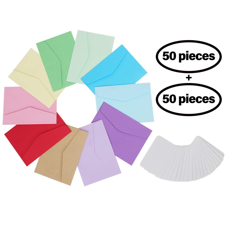 50 Stück Mini Umschläge Prettydate Set Mit 50 Blanko