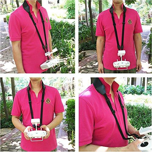 Anbee Black Lanyard Shoulder Belt Neck Strap Sling for DJI Phantom 3 SE / 4 Pro / Advanced, Maivc Pro / Air / Spark / Inspire 1 Remote Controller
