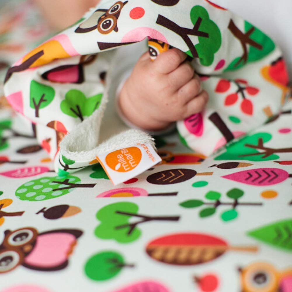 /Ökotex 100 hygienische Alternative zu Mullwindeln /& Moltont/üchern antibakteriell /& saugstark millemarille Spucktuch aus Bambusfrottee unverzichtbar f/ür Baby-Erstausstattung Funky Apples
