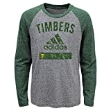 Outerstuff MLS Portland Timbers Boys -Triblend Equiptment Long sleeve Tee, Heather Grey, Small (4)