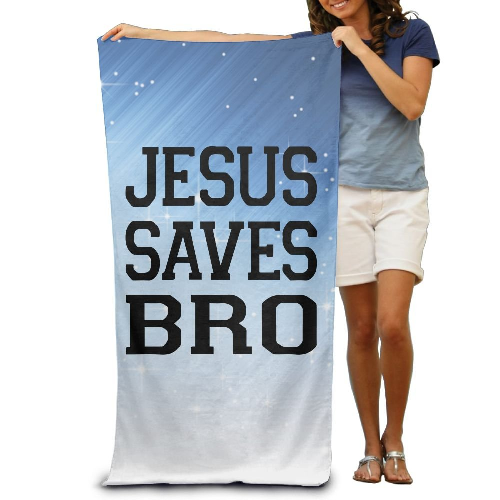 Wxf Jesus Saves Bro Christian Graphic Design Soft Lightweight Beach Towel Pool Towel 30x50 by Wxf