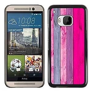 Paccase / SLIM PC / Aliminium Casa Carcasa Funda Case Cover - Wood Pattern Texture Pink Grey - HTC One M9