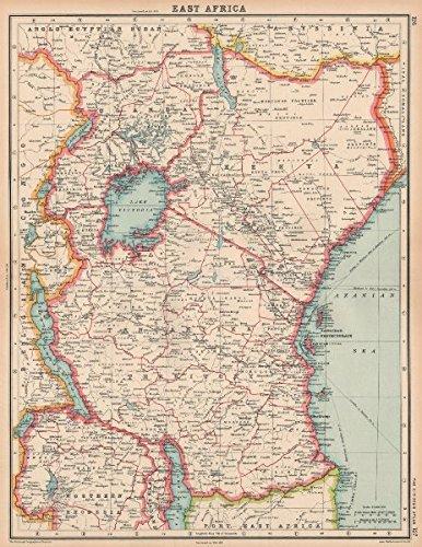 EAST AFRICA Kenya Uganda Tangyanika Territory Zanzibar