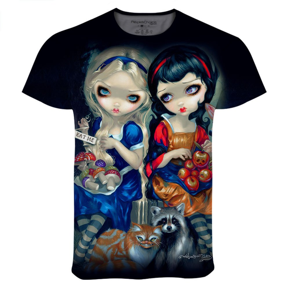Peoples Choice Apparel Alice and Snow White for Mens Tee Designed by Jasmine Becket Griffith