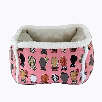 Lamzoom Cama para Mascotas para Perros pequeños y medianos Gatos con cojín Suave Cama para Perros y Gatos Lavable a máquina cojín Reversible en el Interior: ...