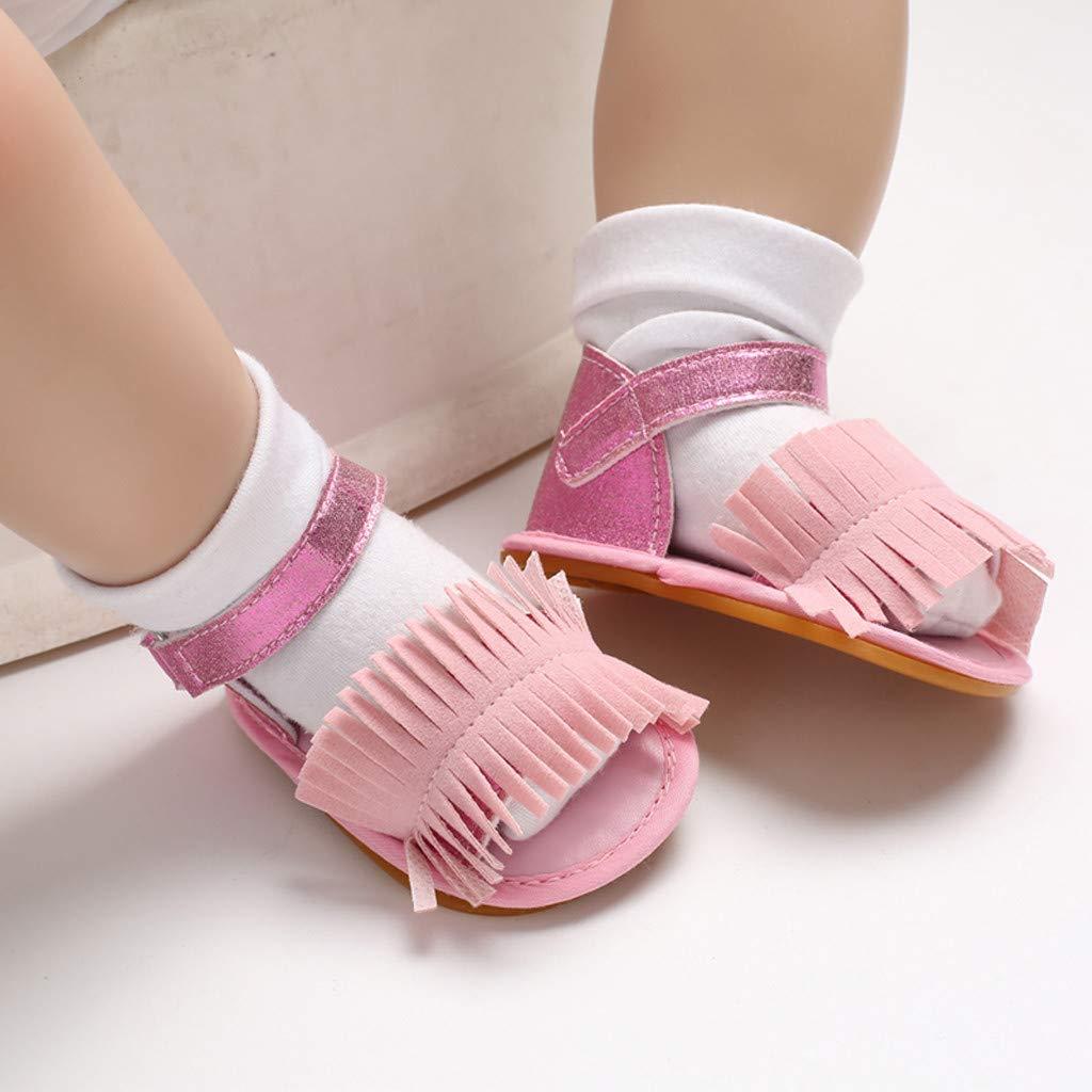 Infant Newborn Sandals Crib Shoes Prewalker Sandals Anti Slip Tassels Soft Sole Shoes Sandals Memela