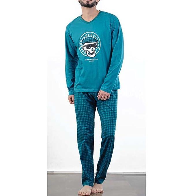 Kukuxumusu - Pijama Hombre Hombre Color: Oceano Talla: Medium