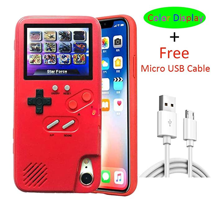 newest 68e40 111fc Gameboy Case for iPhone X, VOLMON Shockproof iPhone Xs Case Cover with 3D  Video Games, Color Display 36 Retro Games Case, Pretty Girl Case Funny for  ...