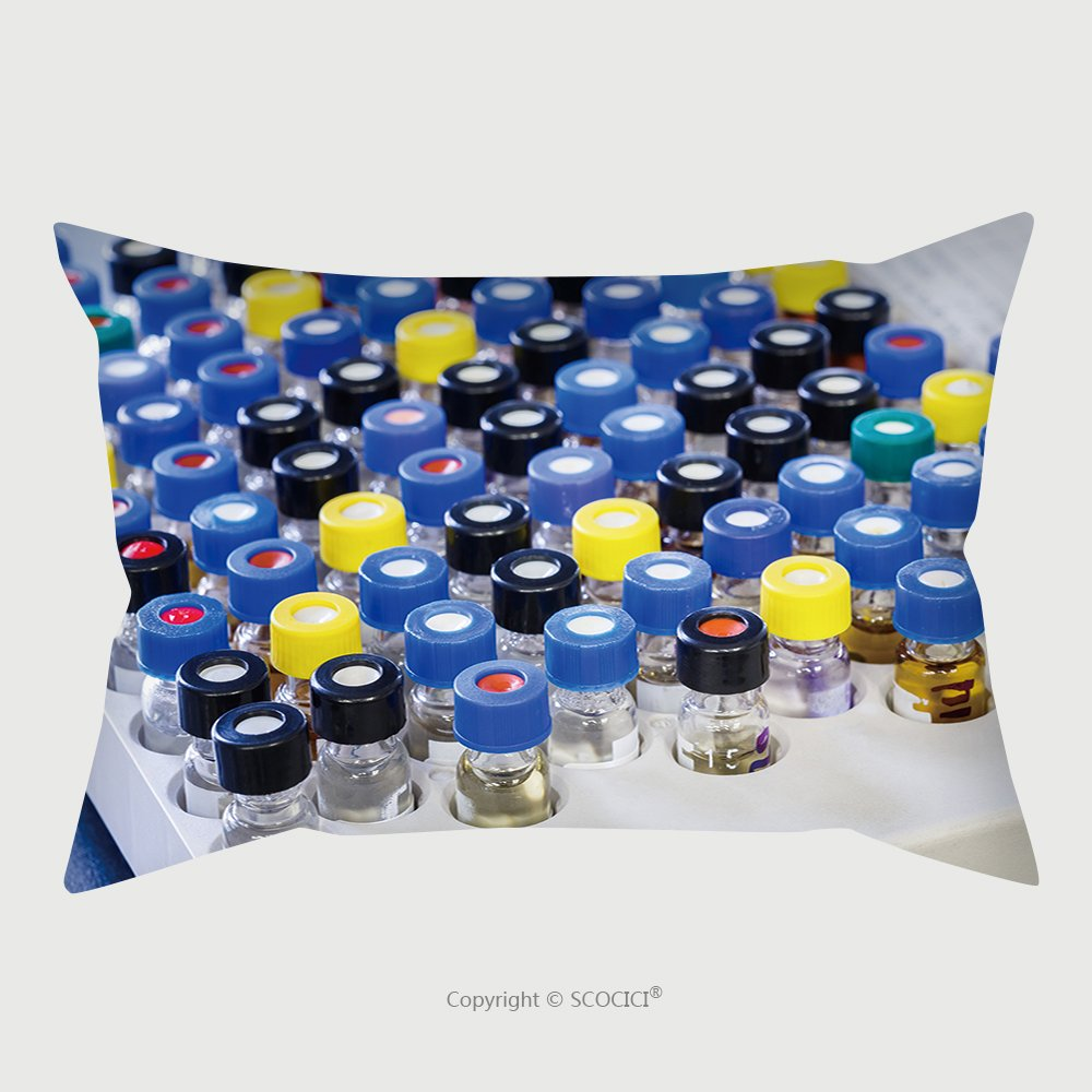 Custom Satin Pillowcase Protector Vials With Inserts And Crimp Septum Caps In Plastic Rack For Liquid Analysis 221342902 Pillow Case Covers Decorative