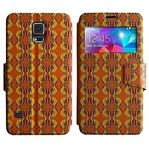LEOCASE linda mariposa Funda Carcasa Cuero Tapa Case Para Samsung Galaxy S5 I9600 No.1003453