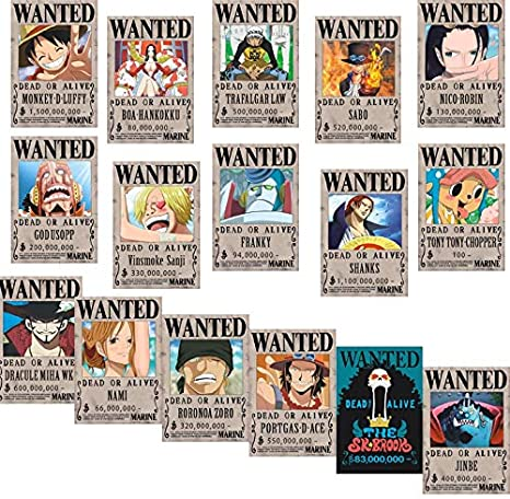 Bamboo S Grocery One Piece Wanted Posters 42cm 29cm New Edition Luffy 1 5 Billion Set Of 16pcs Posters Prints