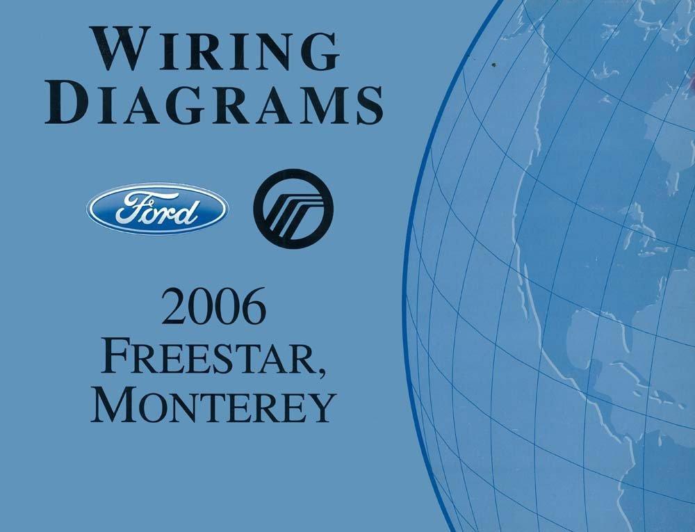amazon com: bishko automotive literature 2006 ford freestar mercury monterey  wiring diagrams schematics book: automotive