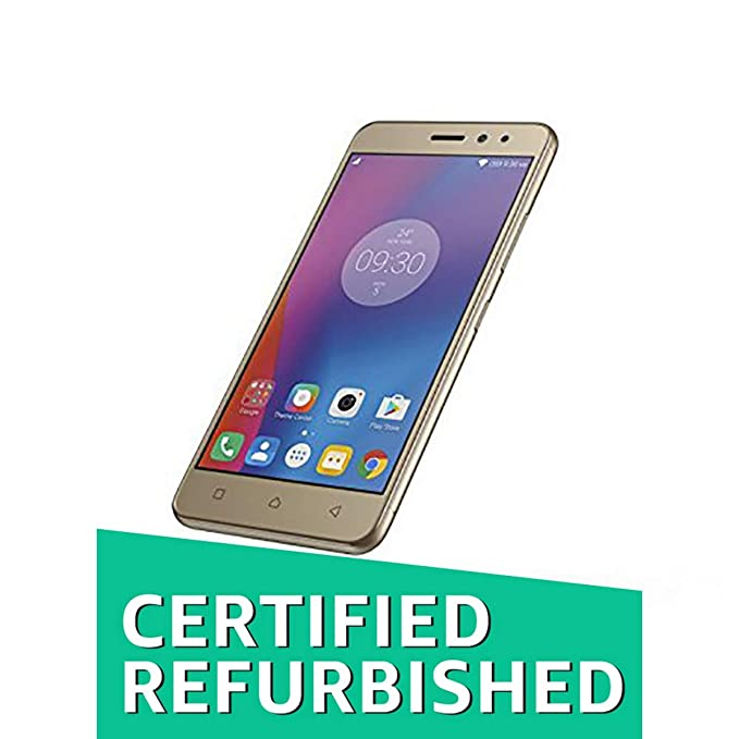 (Certified REFURBISHED) Lenovo K6 Power (Gold, 32GB) Smartphones at amazon