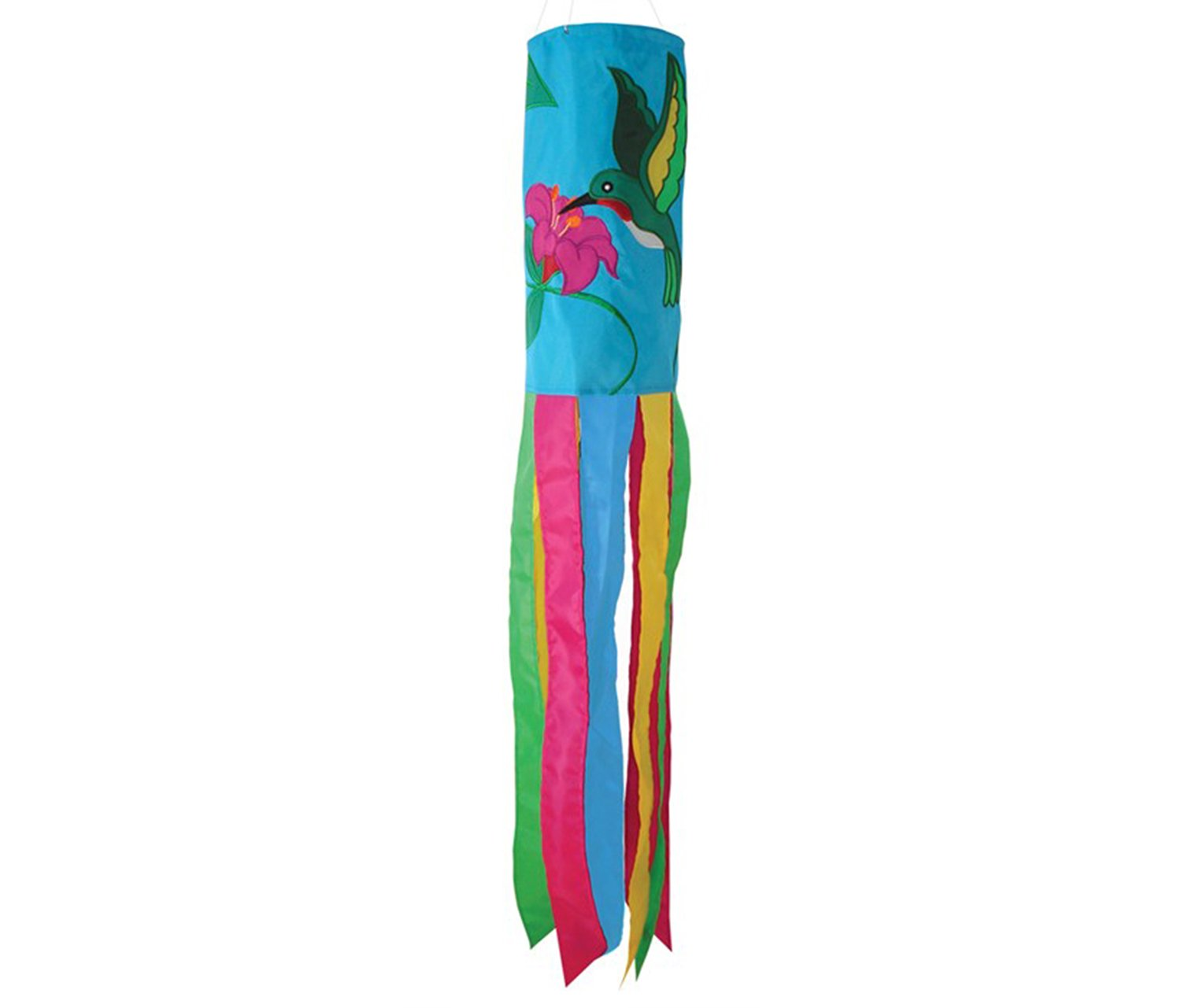 Mozlly Multipack - In the Breeze Blue Colorful Hummingbird Windsock - 6 x 40 inches - Hanging Novelty Patio Decor (Pack of 6) - Item #S115043_X6 by Mozlly